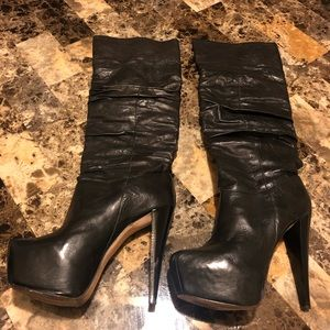 Alice and Olivia Platform Leather Boots